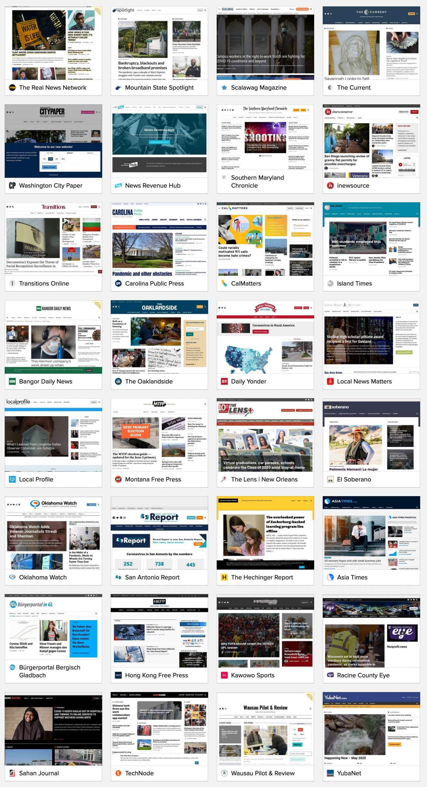 Launched Newspack sites